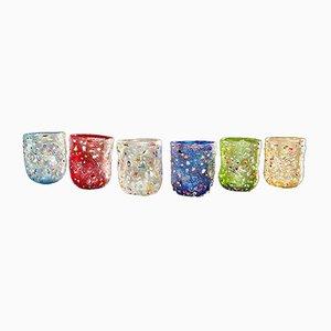 Set di bicchieri vintage in vetro di Murano di Vestidello Luke per Ribes, 2004, set di 6