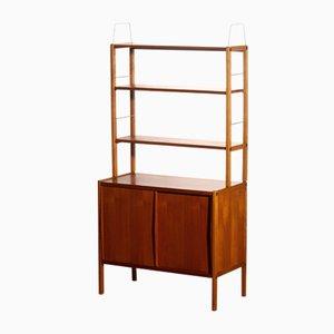 Teak, Oak, and Brass Bookcases by Bertil Fridhagen for Bodafors, 1960s, Set of 2