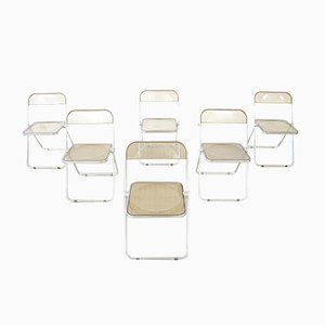 Model Plia Chairs by Giancarlo Piretti for Castelli / Anonima Castelli, 1980s, Set of 6