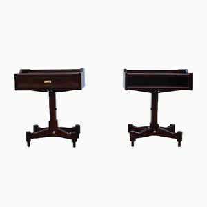 Rosewood Nightstands by Claudio Salocchi for Sormani, 1960s, Set of 2