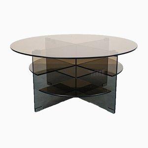 Tavolino da caffè Parsol vintage in cristallo di Forli, anni '70