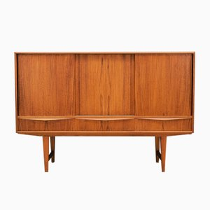 Mid-Century Danish Teak Highboard by E. W. Bach for Sejling Skabe, 1960s