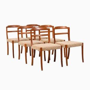 Chaises de Salon en Teck par Ole Wanscher pour Cado, 1970s, Set de 6