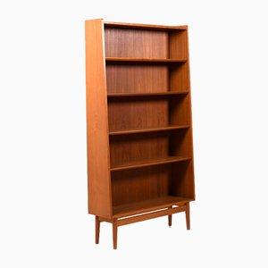 Danish Teak Conical Bookcase by Johannes Sorth for Nexø Møbelfabrik Bornholm, 1950s