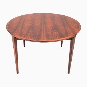 Danish Rosewood Model 38 Extendable Dining Table by Henry Rosengren Hansen for Brande Møbelindustri, 1960s