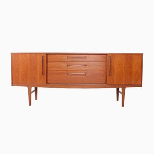 Scandinavian Sideboard with Sliding Doors, 1960s