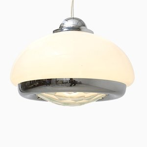 Mid-Century Italian Glass Pendant Lamp in the Style of Max Ingrad, 1960s