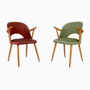 Tonneau Esszimmerstühle, 1950er, 2er Set