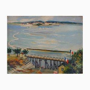 Panel Oil on Panel de Normandía vintage de Elisée Maclet