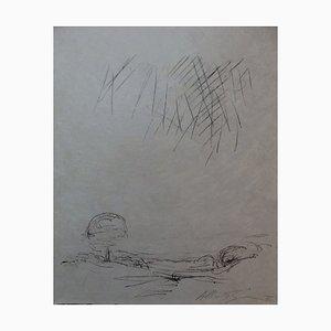 Litografía de paisaje de Alberto Giacometti, 1961