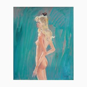 Murielle Oil on Panel by Jean-Gabriel Domergue