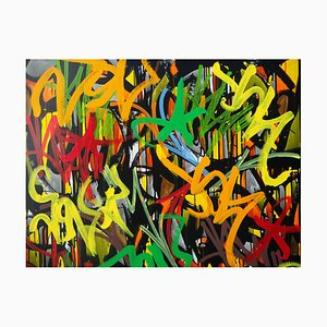 Story of My Life Acrylic and Posca on Canvas by JonOne, 2016