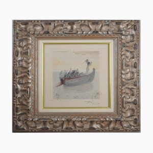 Vintage Engel und Figuren Zeichnung von Salvador Dali