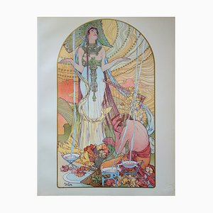 Salomé Lithograph by Alfons Mucha, 1897