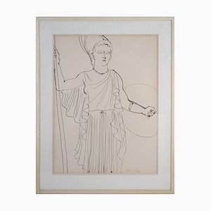 Large Athena the Electricity Fairy Drawing by Raoul Dufy