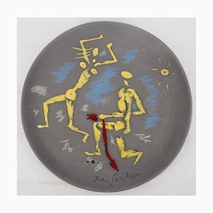 Céramique Atalante et Hippomème Vintage par Jean Cocteau