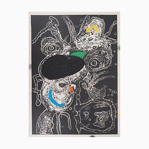 Incisione Surrealist Portrait Epriu di Joan Miró, 1975