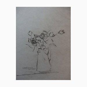 Bouquet of Roses Lithografie von Alberto Giacometti, 1961