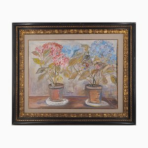 Vintage Les Hortensias Gouache and Watercolor di Maurice Utrillo