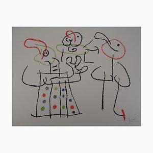 Litografia Ubu Family with a Child vintage di Joan Miró