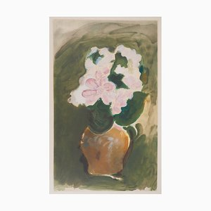 Incisione The Pink Bouquet di Georges Braque, 1955