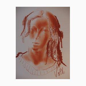 Woman's Head Drawing by Antoniucci Volti