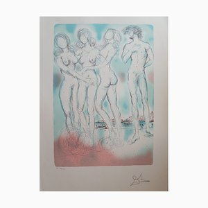 Lithographie Vintage the Judgement of Paris par Salvador Dali
