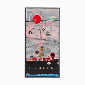 L'olio Journey of the Idol su tela di Jean-Pierre Vielfaure