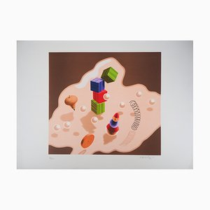 Kinetic Composition of Toys Lithograph by Victor Vasarely