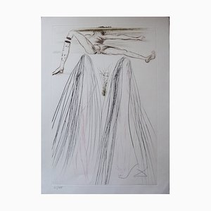 Aguafuerte Belticag vintage de Salvador Dali