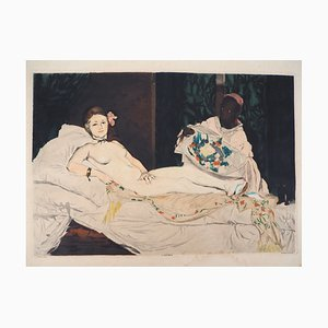 Olympia Engraving Aquatint after Edouard Manet