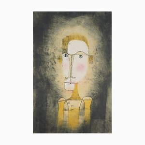 Portrait of a Yellow Man Lithograph and Stencil after Paul Klee, 1964