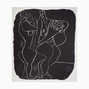 Two Naked Drawing by Le Corbusier, 1964