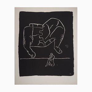 Litografia The Hands and the Thinker di Le Corbusier, 1964