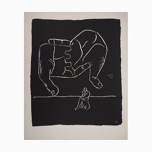 The Hands and the Thinker Lithograph by Le Corbusier, 1964