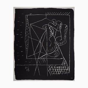 Lithographie The Architect par Le Corbusier, 1964