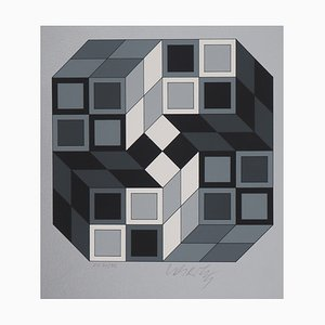 Kinetic Composition Silkscreen by Victor Vasarely