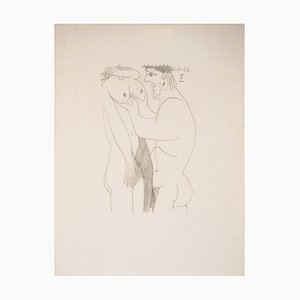 Lithographie Homecoming Lovers après Pablo Picasso, 1970