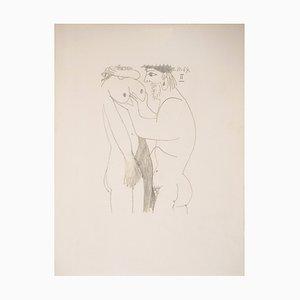 Litografia Homecoming Lovers di Pablo Picasso, 1970