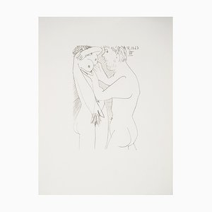 The Erotic Couple Lithographie nach Pablo Picasso, 1970