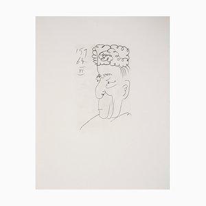 Portrait of a Man Lithographie nach Pablo Picasso, 1970