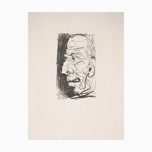 Portrait of an Old Man Lithograph after Pablo Picasso, 1970