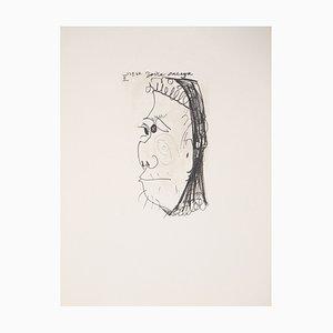 Profil d'une vieille femme Lithographie nach Pablo Picasso, 1970