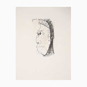 Profil d'une vieille femme Lithograph after Pablo Picasso, 1970