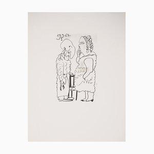 Litografia di coppia segreta di Pablo Picasso, 1970
