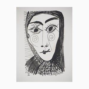 Litografia Femme au foulard noir di Pablo Picasso, 1970