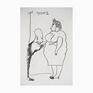 Baiser de salutation Lithograph after Pablo Picasso, 1970