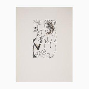 Lithographie Le Baise Main d'après Pablo Picasso, 1970
