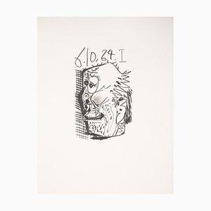 Lithographie Tête de vieil homme après Pablo Picasso, 1970