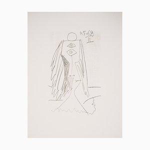 Cubisme portrait Lithograph after Pablo Picasso, 1970